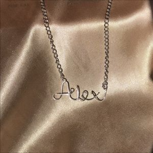 Jewelry - Custom Silver Name Necklace
